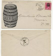 Pre Prohibition Las Vegas Brewery Advertising Postal Cover Nm 1890