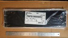 Hammond PBPA19005BK2 3U 3 Unit Spaces Black Aluminum Flat Rack Panel 19x5.3x1.25
