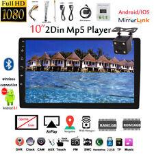 10''2 Din Android GPS Autoradio+Cám BT Táctil Airplay iOS Enlace Espejo FM Wifi