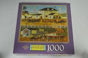 "NEW/SEALED ~ MB Puzzle Charles Wysocki ""Sand and Sea""  1000 pc Milton Bradley"