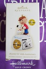 HALLMARK 2009 PEANUTS 60TH ANNIVERSARY CHARLIE BROWN SNOOPY MIB >>
