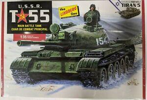 LINDBERG 1/35 U.S.S.R. T-55 MAIN BATTLE TANK (VARIANT PARTS FOR ISRAELI TIRAN-5)
