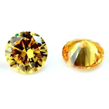 12mm RBC Pair Sparkling Champagne Color CZ Cubic Zirconia Loose Calibrated Gems