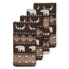 Bear Trail Napkins Set Of 4 Cabin Lodge NEW