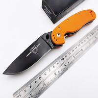 Tactical RAT Model 1 Folding Knife AUS-8 Black Blade G10 Handle Pocket Knive OEM