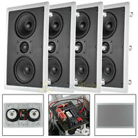 """4 Pack MTX Dual 5.25"""" In Wall Lcr Speaker 2 Way 130W Max 8 Ohm Musica Audio"""