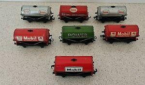 Hornby Oil Tanker Wagon Mixed Joblot 7 Esso Royal Daylight Mobil Power Grade C