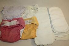 Infant Baby Bum Genius Baby Washable Re-Usable Cloth Nappy Diapers Lot 4