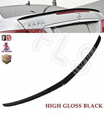 MERCEDES E CLASS COUPE C207 W207 AMG REAR TRUNK BOOT LIP SPOILER 10+ GLOSS BLACK