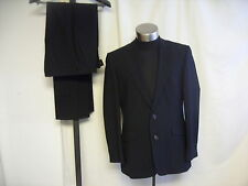 Mens Suit STVDIO Jeff Banks black stripe, jacket 40 R, trousers W 34 L 34 7659