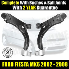 FORD FIESTA MK6 2001-2008 FRONT LOWER SUSPENSION WISHBONES ARMS PAIR WISHBONE X2
