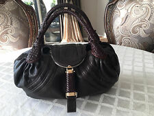Fendi Spy Bag Chocolate Brown Nappa Leather Authentic