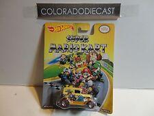 Hot Wheels Super Mario Kart Yellow A-OK w/Real Riders