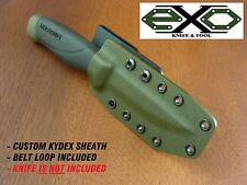 Kydex Sheath, Mora Companion Heavy Duty, #11746, 3.2mm Carbon Blade, OLIVE DRAB-