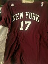 Adidas NBA New York Knicks Jeremy Lin #17 T-Shirt Jersey Tee RED 2X-Large NICE!