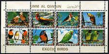 Umm Al Qiwan 1973 Exotic Birds Cto Used M/S #D47823