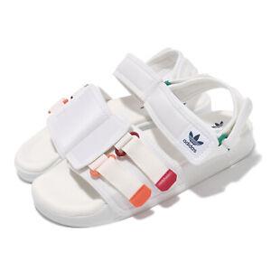 adidas Originals New Adilette Sandal 4.0 White Orange Men Unisex Strap GZ8828