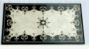 18 x 36 Inches Marble Patio Center Table Top with Luxurious Look Coffee Table