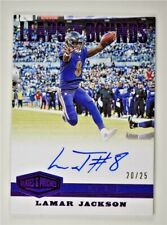 2019 Plates and Patches Leaps and Bounds Purple Auto #LB-LGA Lamar Jackson 20/25