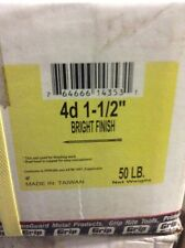 """50lbs of 4d 1-1/2"""" Bright Finish"""