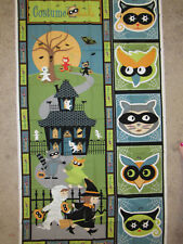 "HALLOWEEN SHERI BERRY COSTUME CLUB HAUNTED HOUSE Cotton Fabric PANEL 24""X44"""