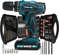 18V Cordless Drill Driver Screw Driver Set Kit Combi Lithium Ion Lightweight