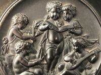 Coupe aux Amours Jouant de la musique EBONITE Epoque Napoléon III XIX ème Siècle