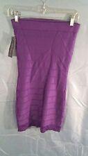 French Connection Sleeveless Tube Top Bandage Dress Purple sz 6 NWT