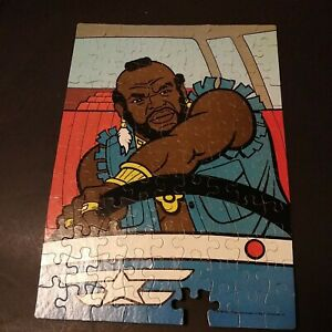 Vintage 1983 Mister T Mr T A-team 100 Piece Jigsaw Puzzle 16x11 Driving  -1pc