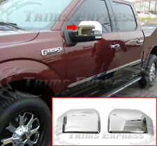 2015-2018 Ford F-150 Chrome Door Mirror Covers Cap-Upper Half 2Pcs