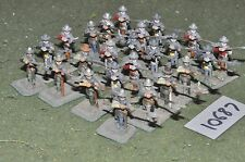 25mm medieval halberdiers 24 figures (10687)