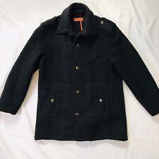 Vertical Robert Comstock Peacoat Coat Navy Style Sz M 60 Wool/40 Polyester $295