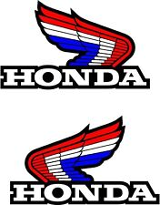 2 x Honda Wings decal sticker Motorbike Scooter Motorcycle Red White Blue 100mm