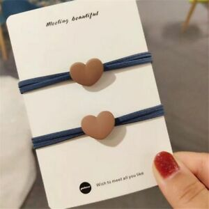 Girl Hair Accessories Cute Heart-shaped Hair Tie Rope Hair Ring High Elastic