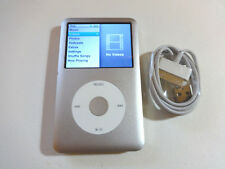 APPLE iPOD  CLASSIC  6TH GEN.  SILVER  80GB...NEW BATTERY...