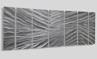 Abstract Modern Silver Metal Wall Sculpture Art Home Decor Accent- Frozen Tundra