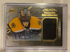 2015-16 UD Black Rookie Coverage Autograph Relics #RCOVMS Malcolm Subban RC