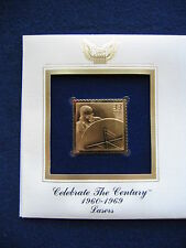 1999 Lasers Celebrate the Century replica 22kt Gold Golden Cover FDC FDI Stamp