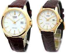 CASIO ANALOG CLASSIC BROWN LEATHER COUPLE LOVER PAIR WATCH MTP/LTP-1183Q-7A