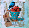 Handmade,Shabby Chic,unique picture plaque with decoupage technology. Shaby Bird