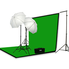 3 Muslin + Background Support Kit + Lighting Set + Case
