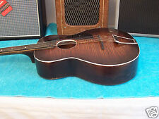 1937 Vintage Richter Harmony Arch top Guitar round sound hole Faux finish V Rare