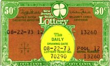 1973 (Various Dates) New Jersey Daily Lottery Tickets - Non Winning