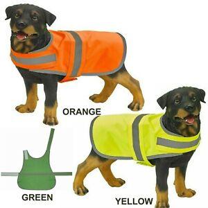 Dog Vest Yoko Hi Visibility High Visibility Pet Safety Reflective Viz Coat S M L