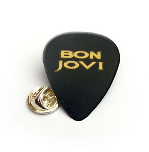 Bon Jovi Gold Printed guitar pick plectrum Pin Badge Lapel Tie tac