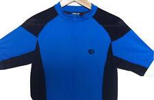 Pearl Izumi Womens Cycling Jersey Blue Black Medium M Pockets Polyester