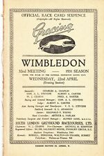 Wonderful 1931 Wimbledon  Greyhound Racing booklet 32nd  meet rare.