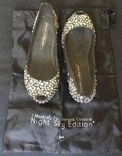 "J. Maskrey for Melissa Couture ""Night Sky Edition"" Peep-Toe Diamanté Flats Shoes"