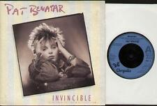 "PAT BENATAR Invincible  7"" G/Fold Ps, B/W Instrumental, Pat 3"