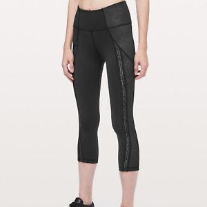 "Lululemon Athletica Women's Power Lines Crop Pant 21"" Size 10 New !!"